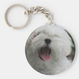Maltesischer Hund Keychain Schlüsselanhänger