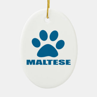 MALTESISCHER HUNDEentwürfe Keramik Ornament