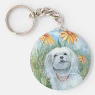 Maltesischer Hundewelpe Keychain durch Molly Schlüsselanhänger