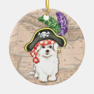 Maltesischer Pirat Keramik Ornament