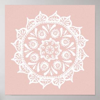Malven-Mandala Poster