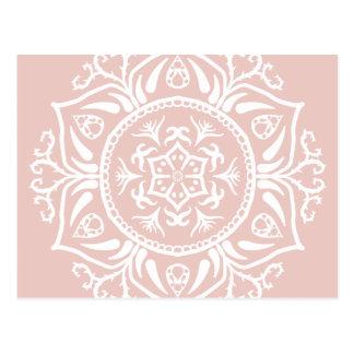 Malven-Mandala Postkarte