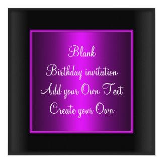 Malvenfarbene Geburtstags-Einladung Quadratische 13,3 Cm Einladungskarte