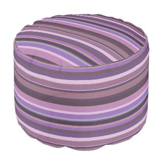 Malvenfarbene horizontale Streifen Hocker