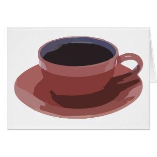 Malvenfarbene Kaffeetasse Karte