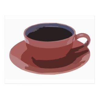 Malvenfarbene Kaffeetasse Postkarte