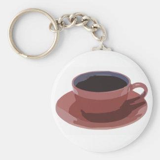 Malvenfarbene Kaffeetasse Schlüsselanhänger