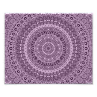 Malvenfarbene Kreis-Mandala Fotodruck
