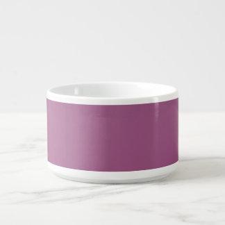 Malvenfarbene lila Chili-Schüssel Schüssel