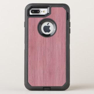 Malvenfarbener lila hölzerner Korn-Bambusblick OtterBox Defender iPhone 8 Plus/7 Plus Hülle