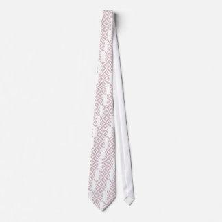 Malvenfarbenes geometrisches Deko-Würfel-Muster Personalisierte Krawatten