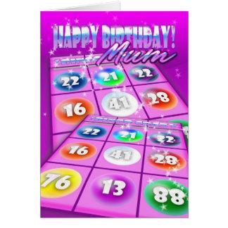 Mama-Bingo-verrückte Geburtstags-Karte