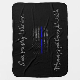 Mama die Nachtwache Blue Line-Baby-Decke erhalten Babydecke