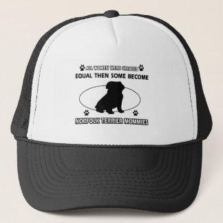 Mama-Entwürfe Norfolks Terrier Truckerkappe