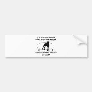 Mama-Entwürfe Pastor-Russells Terrier Autoaufkleber
