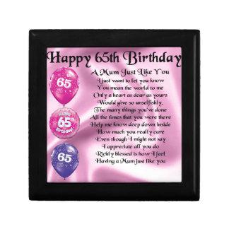 Mama-Gedicht - 65. Geburtstag Geschenkbox