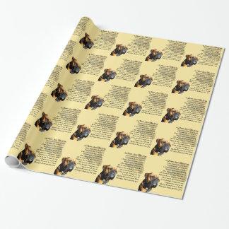 Mama-Gedicht - Boxer-Hundeentwurf Geschenkpapier