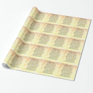 Mama-Gedicht - Silk Sahneentwurf Geschenkpapier