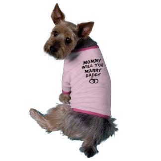 Mama heiraten Sie Vati? Personalisiertes Shirt Hundbekleidung
