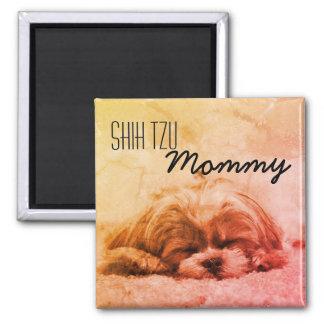 Mama-Hundeliebhaber-Magnet Shih Tzu Quadratischer Magnet