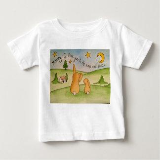 Mama-, i-Liebe Sie zum Mond und hinterer T - Shirt