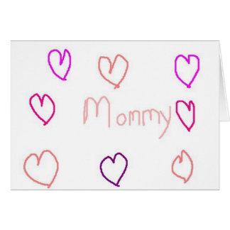 Mama mit Herzen Karte