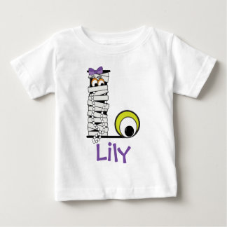 Mama-Monogramm-Initiale L des Baby T-shirt