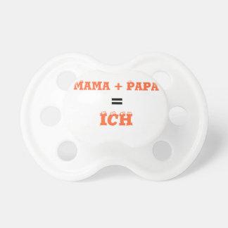 Mama + Papa = Ich Schnuller