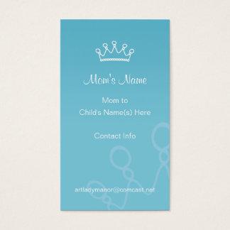 Mama-Telefonkarte - blaue Krone Visitenkarten
