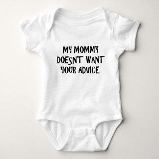 Mama will nicht Rat Baby Strampler