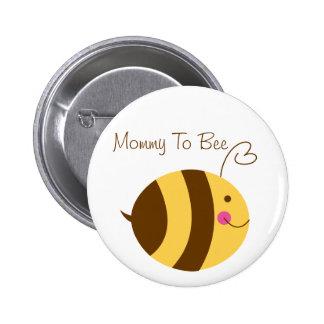 Mama zum Bienen-Babyparty-Knopf Runder Button 5,1 Cm
