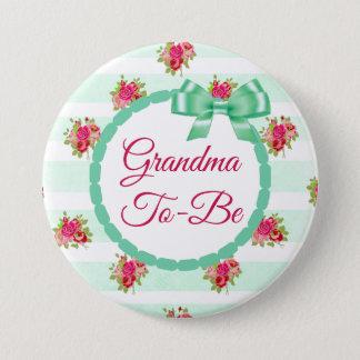 Mama, zum Blumenchic-Rosen-Knopf zu sein Runder Button 7,6 Cm