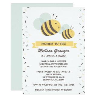 Mama zur Bienen-Hummel-Babyparty-Einladung Karte
