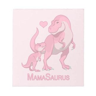 MamaSaurus T-Rex und Baby-Dinosaurier Notizblock