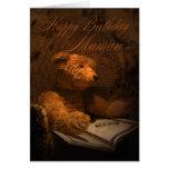 Mamaw Geburtstags-Karte - altmodischer Teddybär