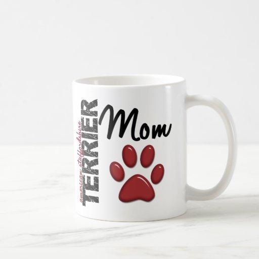 Mamma 2 amerikanischen Staffordshires Terrier Kaffeetassen