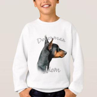Mamma 2 Dobermannpinscher-(Schwarzes) Sweatshirt