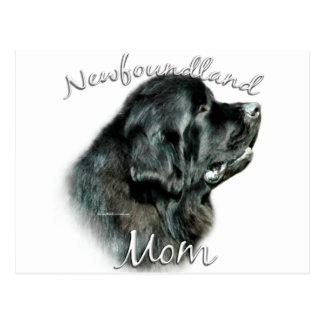 Mamma 2 Neufundlands Schwarzes Postkarten