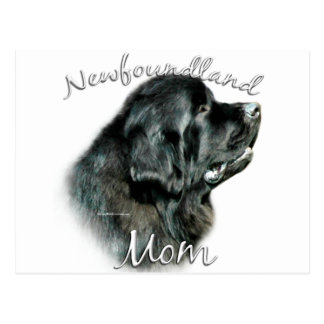 Mamma 2 Neufundlands (Schwarzes) Postkarten