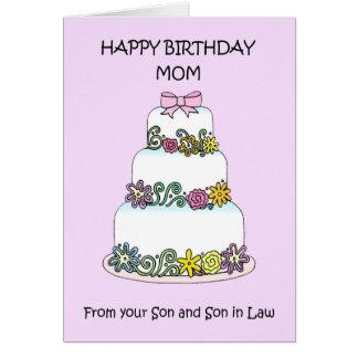 Mamma-alles Gute zum Geburtstag vom Sohn und vom Karte