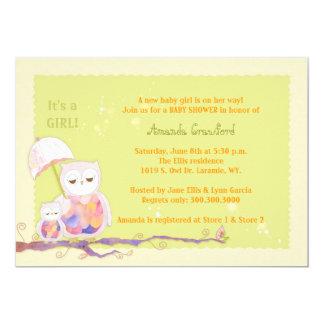 Mamma + Baby-Eulen-Baby-Babyparty-Einladungen 12,7 X 17,8 Cm Einladungskarte