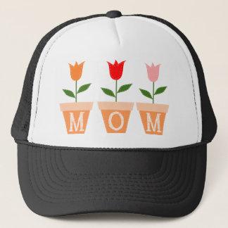 MAMMA (bunte Tulpen in den Lehm-Blumen-Töpfen) Truckerkappe