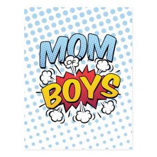 Mamma der Comic-Buch-Art der Jungen-Mutter Tages Postkarte