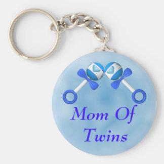 Mamma der Doppeljungen Keychain Standard Runder Schlüsselanhänger