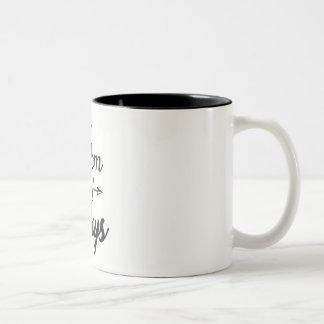 Mamma der Jungen Zwei-Ton Kaffee-Tasse Zweifarbige Tasse