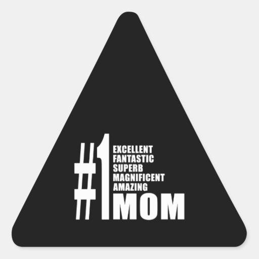 Mamma der Mutter-Tagesgeburtstags-Weihnachtszahl-e Dreieckige Aufkleber