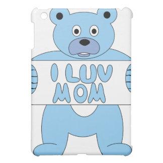 Mamma des Cartoon-blaue Bärn-I Luv (i-Liebe-Mamma) Hülle Für iPad Mini