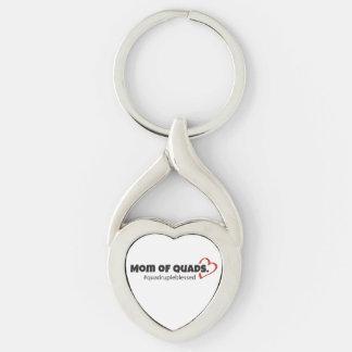 Mamma des Viererkabel-Herzens Keychain Schlüsselanhänger