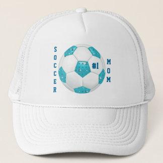 Mamma-Diamant-Edelstein-Aqua-Fußball des Truckerkappe