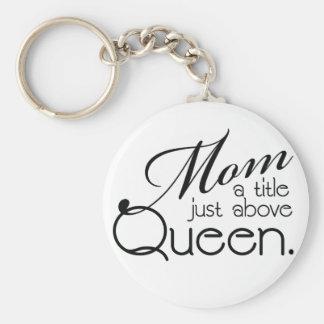 Mamma, ein Titel gerade über Königin - Standard Runder Schlüsselanhänger